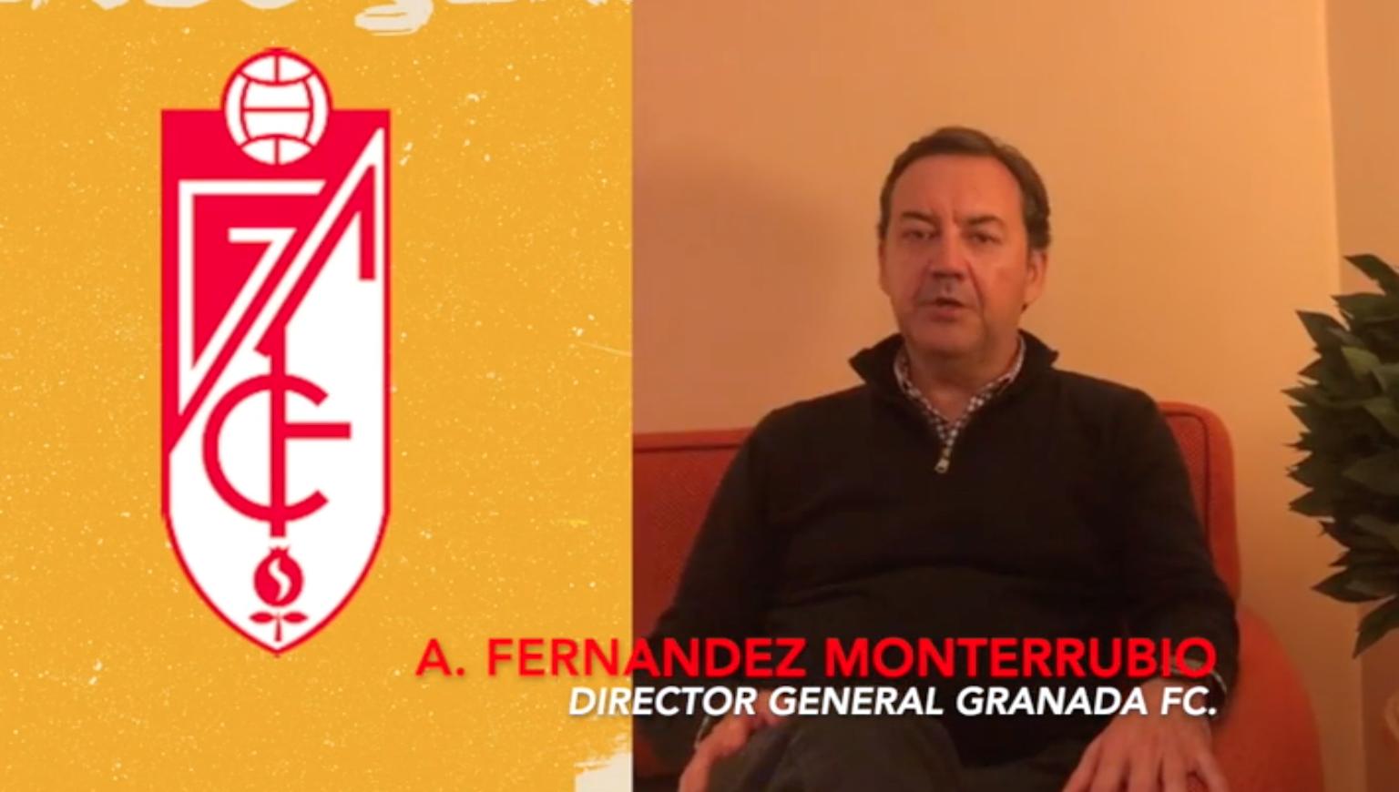SALUDO DE ANTONIO FERNÁNDEZ, DIRECTOR GENERAL DEL CLUB GRANDA PARA ANTONIO CORDÓN.