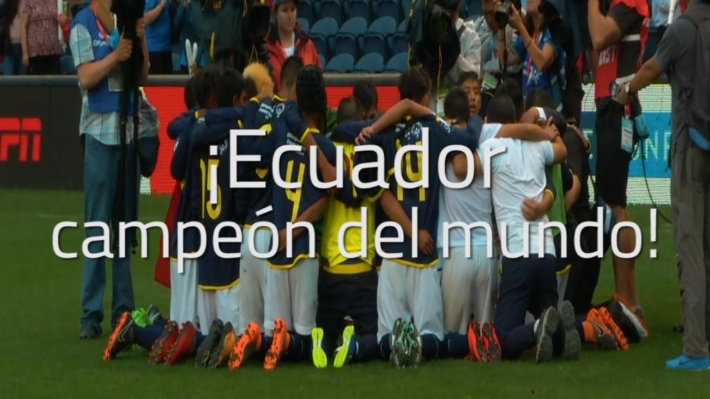 ¡Ecuador Campeón del Mundo!